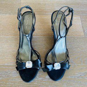 Coach T-strap Bling Wedge Sandal | 9.5M